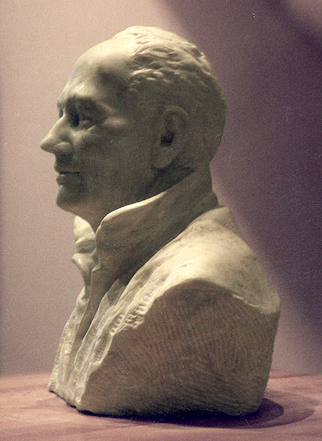 Man from Maine, Fine Art carved Stone sculpture figurative art Getty Museum by Robert Cunningham