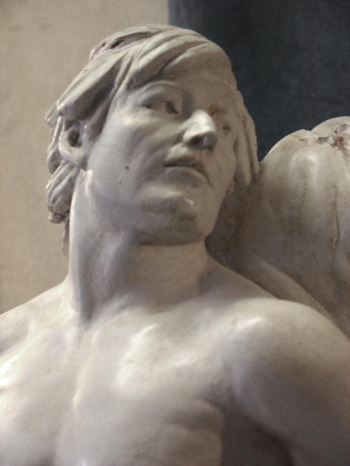 Man's Head, Detail, figurative sculpture by Robert Cunningham
